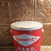 Ganong's Hard Candies Advertising Tin Pain St. Stephen N.B.