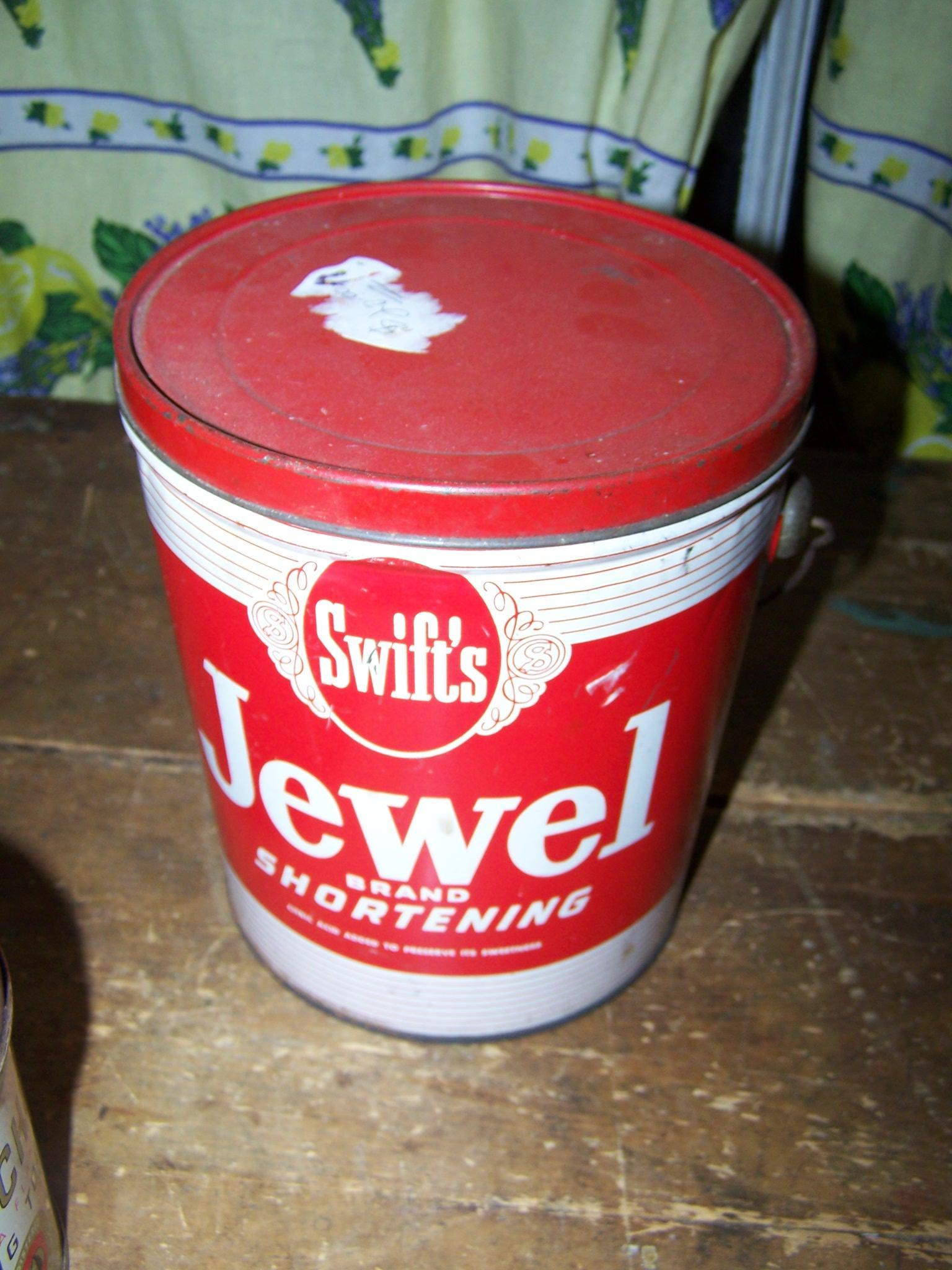 Vintage Advertising Pail for Swift's Shortening  Jewel BIJOU  Toronto Ontario Canada
