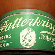 Vintage Advertising Tin PATTERKRISP Patterson Chocolates LTD Toronto CANADA
