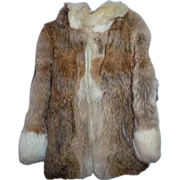 Vintage Coyote Fur Jacket With Amazing Hood Ladies Size Medium