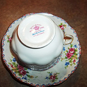 Vintage Royal Albert Petit Point Tea Cup & Saucer England