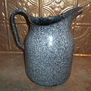 Large  Vintage Graniteware Pitcher  Great For Display