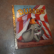 Vintage Children's Book  DUMBO Walt Disney's Little Library