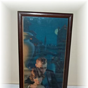 "Vintage Frame Gene Pressler Yard Long Style Print ""HoneyMooning In Venice """