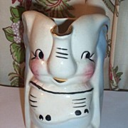 Vintage American Bisque Walt Disney USA DUMBO Pottery Pitcher