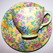 Sampson Smith Old Royal Bone China Chintz Cup & Saucer