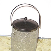 Glass Biscuit / Cracker / Cookie  / Ice Jar England