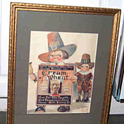 Framed 1923 Magazine Print Cream of Wheat