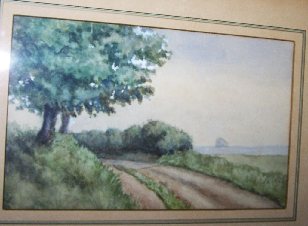 Lovely Framed Vintage Scenic Watercolor Painting