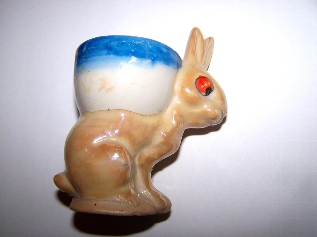 Not Perfect Googly-Eyed  Bunny Rabbit Egg Cup Japan