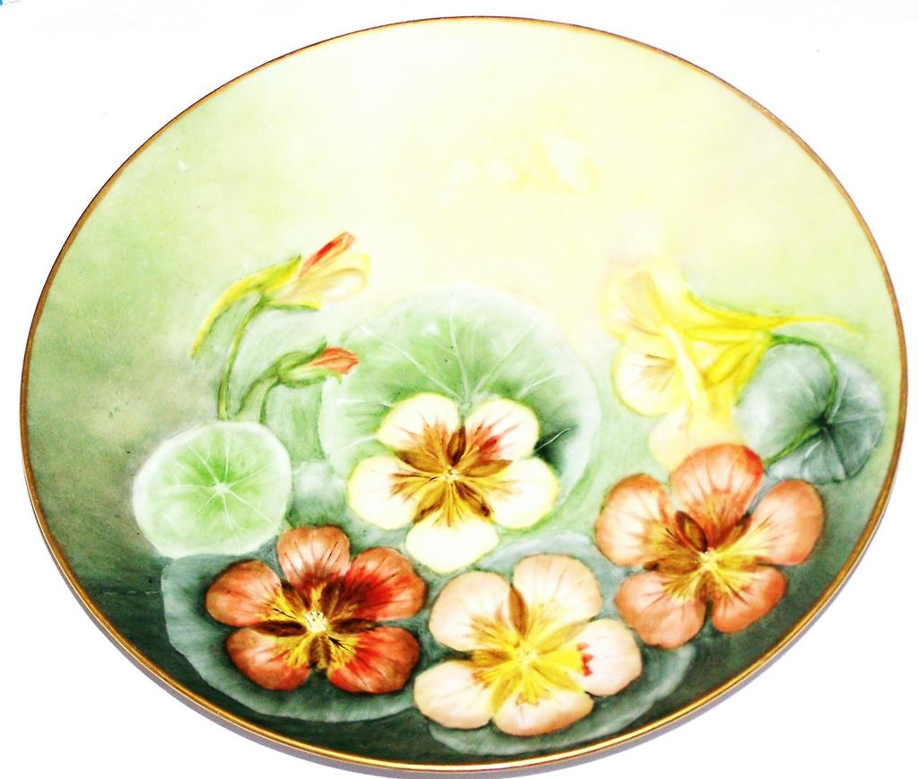 Pretty As A Picture Hand Painted Flower Plate Germany Welman