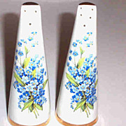 Forget me Knot Floral Motif Salt & Pepper Shakers Royal Stuart