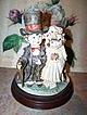 Whimsical Wedding Bride Groom Figurine Art Sculpture Figurine