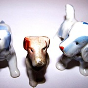 Vintage Puppy Dog Miniature Lot of 3 Germany / Japan