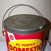 Advertising All Purpose Domestic Shortening Tin Pail