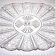 Paneled Daisy  / Brazil / Daisy & Panel Pressed Glass Plate