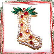 Colorful Christmas / Xmas Stocking Pin Brooch