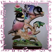 Vintage Chickadee Bird Figurine Japan