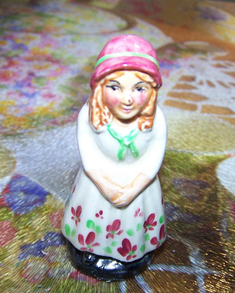 Miniature Artone England Hand Painted Figurine Little Nell