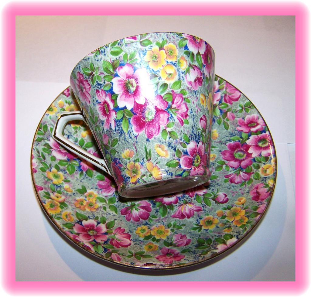 Chintz Tea Cup & Saucer &quot; Briar Rose &quot; Lord Nelson