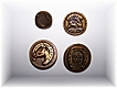 Lot of 4 Horse related Metal Buttons