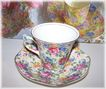 "James Kent  Chintz Tea Cup & Saucer "" Rosalynde """