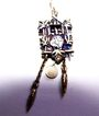 Charming 800 Cuckoo Clock Charm 3 D & Moving Chains & Pendulum