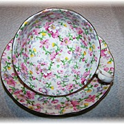 "Porcelain Chintz Tea Cup & Saucer ""May Medley"" Royal Standard"