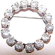 Brilliant Clear Rhinestone Brooch / Pin