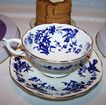 Porcelain Blue Bird Tea Cup & Saucer Coalport England
