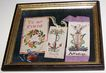 Framed Victorian Era Punched Paper Book Marks Affection , Hope , To My Friend