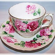 Trinity Rose Tea Cup & Saucer Crown Staffordshire