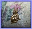 Small MMA Stamped Figural Bunny Rabbit / Hare Rabbit Pin