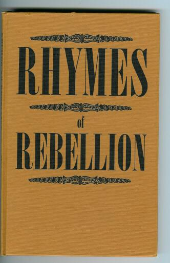Book Rhymes of Rebellion  1965  Contemporary Verses
