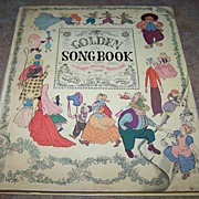 Golden Song Book C. 1945 Illustrated by Gertrude Elliot