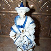 Vienna Woods Fine China Musician Oriental Figurine Blue Onion  Seymour Mann