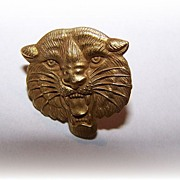 Dainty Vintage Signed Herff Jones Wild Cat Tie Tack Pin