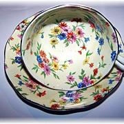 Chintz Tea Cup & Saucer Royal Albert Crown China England