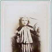 Charming Vintage Cabinet Card Little Boy Child Merrill Rockland ME