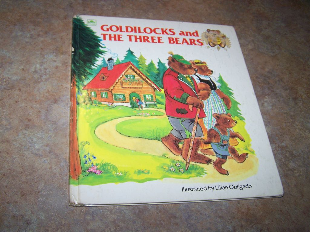 Goldilocks and The Three Bears Golden Press C. 1980