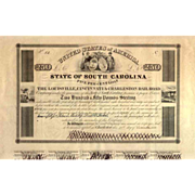 SALE 1838 Louisville Cincinnati & Charleston RR Bond