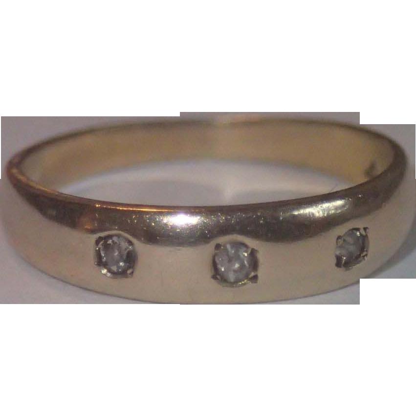 antique baby ring 14k yellow gold diamonds