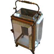 Antique French Jewel Casket ,  Bevelled Glass & Brass, Circa 1890