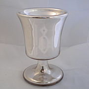 Antique Mercury Glass Goblet , American With Cork , C. 1870