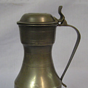 England Antique Lidded Pewter Flagon Stein
