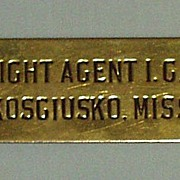 Illinois Central Railroad Freight Agent Cap Badge