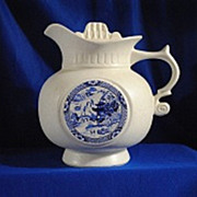 SOLD McCoy Blue Willow Pitcher Cookie/Biscuit Jar