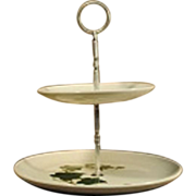 Metlox-Poppytrail Ivy Two-Tiered Serving Tray