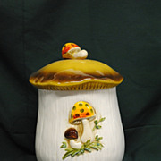 Vintage Merry Mushroom Cookie Jar