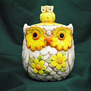 Lefton Owl Cookie Jar